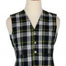 Dress Gordon Tartan - Men's Traditional Style 5 Button Scottish Plaid Vest
