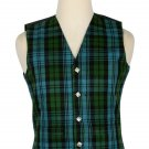 Campbell Ancient Tartan-Men's Traditional Style 5 Button Scottish Plaid Vest
