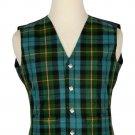 Gunn Ancient Tartan-Men's Traditional Style 5 Button Scottish Plaid Vest