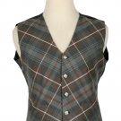 Mackenzie Weathered Tartan-Men's Bespoke 5 Button Scottish Plaid Vest