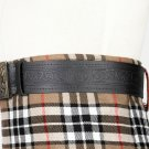 Trinity Knot Embossed Black Leather-Traditional Scottish KILT BELT With BUCKLE