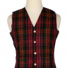Macdonald Tartan-Men's Traditional Style 5 Button Scottish Plaid Vest