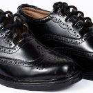 New Black Leather Ghillie Brogues Scottish Kilt Shoes - Available in Sizes 6-11