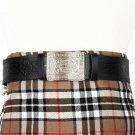 Premium Quality Black Leather - Traditional Scottish KILT BELT With BUCKLE