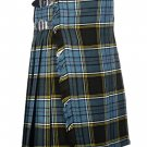 38 Waist Size Traditional 8 Yard Handmade Scottish Kilt For Men - Anderson Tartan