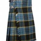 52 Waist Size Traditional 8 Yard Handmade Scottish Kilt For Men - Anderson Tartan