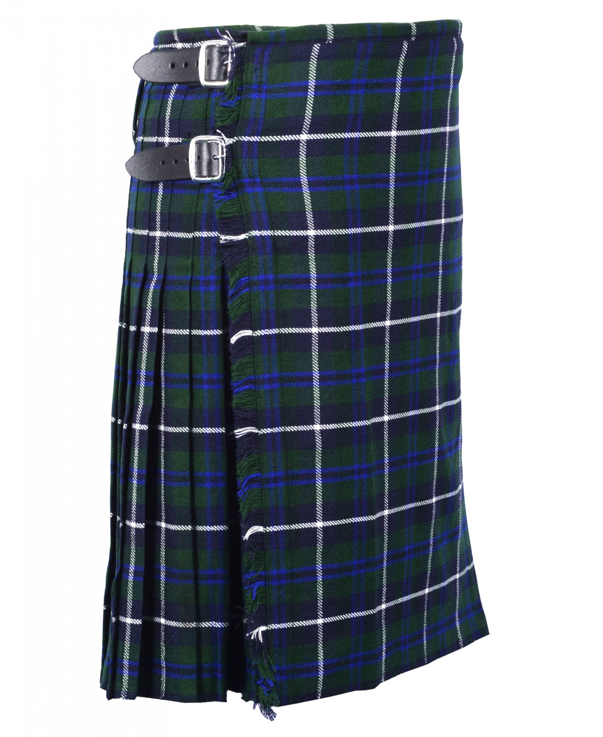 40 Inches Waist Size Traditional 8 Yard Handmade Scottish Kilt For Men - Blue Douglas Tartan