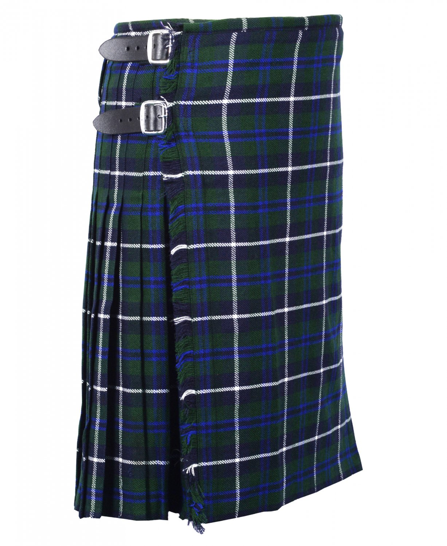 66 Inches Waist Size Traditional 8 Yard Handmade Scottish Kilt For Men - Blue Douglas Tartan