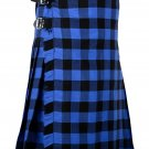 52 Inches Waist Traditional 8 Yard Handmade Scottish Kilt For Men - Buffalo Tartan