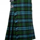 56 Inches Waist Traditional 8 Yard Handmade Scottish Kilt For Men - Campbell Ancient Tartan