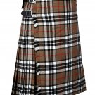 56 Inches Waist Traditional 8 Yard Handmade Scottish Kilt For Men - campbell of thomsan tartan