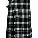 34 Inches Waist Traditional 8 Yard Handmade Scottish Kilt For Men - Dress Gordon Tartan