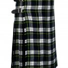 60 Inches Waist Traditional 8 Yard Handmade Scottish Kilt For Men - Dress Gordon Tartan
