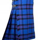 58 Inches Waist Traditional 8 Yard Handmade Scottish Kilt For Men - Elliot Modern Traton