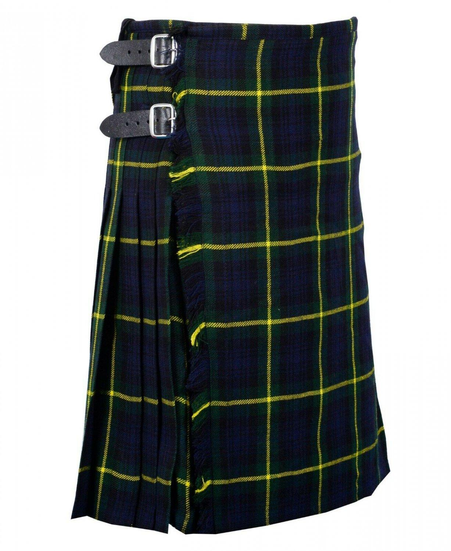 30 Inches Waist Traditional 8 Yard Handmade Scottish Kilt For Men - Gordon Tartan