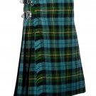 48 Inches Waist Traditional 8 Yard Handmade Scottish Kilt For Men - Gunn Ancient Turtan