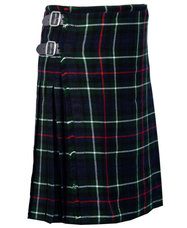 46 Inches Waist Traditional 8 Yard Handmade Scottish Kilt For Men - Mackenzie Tartan