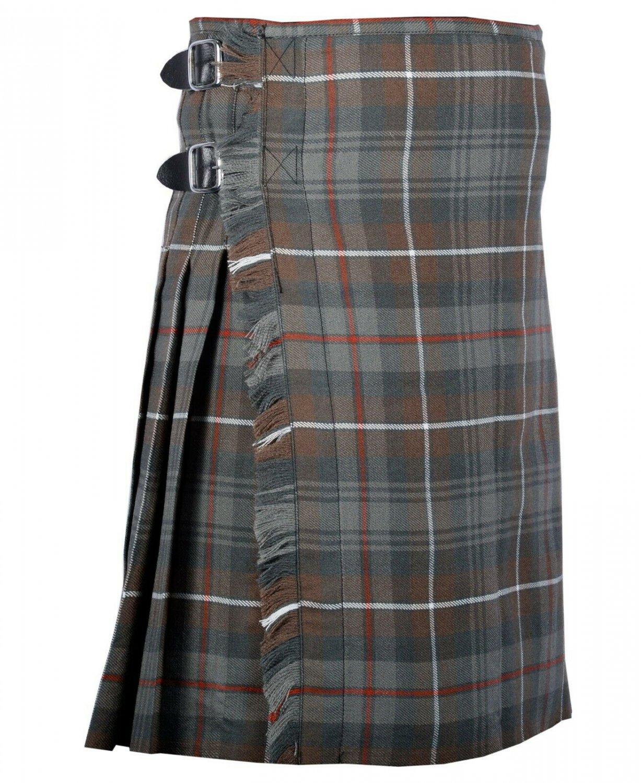 60 Inches Waist Traditional 8 Yard Handmade Scottish Kilt For Men - Mackenzie Weathered Tartan