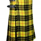 54 Inches Waist Traditional 8 Yard Handmade Scottish Kilt For Men - Macleod Of Lewis Tartan