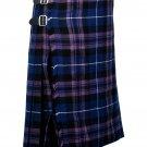 34 Inches Waist Traditional 8 Yard Handmade Scottish Kilt For Men - Pride of Scotland Tartan