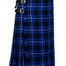 30 Inches Waist Traditional 8 Yard Handmade Scottish Kilt For Men - Ramsey Blue Tartan