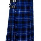 34 Inches Waist Traditional 8 Yard Handmade Scottish Kilt For Men - Ramsey Blue Tartan