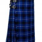 56 Inches Waist Traditional 8 Yard Handmade Scottish Kilt For Men - Ramsey Blue Tartan