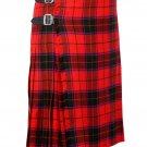 30 Inches Waist Traditional 8 Yard Handmade Scottish Kilt For Men - Scottish Rose Tartan