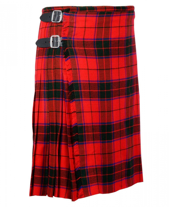 44 Inches Waist Traditional 8 Yard Handmade Scottish Kilt For Men - Scottish Rose Tartan