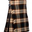 32 Inches Waist Traditional 8 Yard Handmade Scottish Kilt For Men - Rose Ancient Tartan