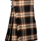 34 Inches Waist Traditional 8 Yard Handmade Scottish Kilt For Men - Rose Ancient Tartan
