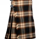 60 Inches Waist Traditional 8 Yard Handmade Scottish Kilt For Men - Rose Ancient Tartan