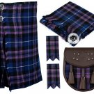 60 Inches Waist 8 Yard Traditional Scottish Tartan Kilt with Accessories - Pride of Scotland