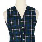 52 Inches Chest New Handmade Traditional Scottish 5 Buttons Tartan Waistcoat Blue Douglas