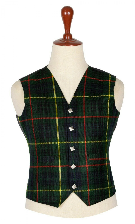 34 Inches Chest New Handmade Traditional Scottish 5 Buttons Tartan Waistcoat Hunting Stewart