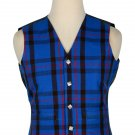 44 Inches Chest New Handmade Traditional Scottish 5 Buttons Tartan Waistcoat Elliot Modern