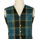 46 Inches Chest New Handmade Traditional Scottish 5 Buttons Tartan Waistcoat Anderson