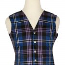 60 Inches Chest New Handmade Traditional Scottish 5 Buttons Tartan Waistcoat Pride Of Scotland