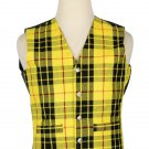 54 Inches Chest New Handmade Traditional Scottish 5 Buttons Tartan Waistcoat Macleod
