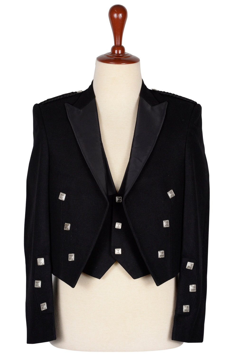 54 inches chest Made to Measure - Premium Quality Hand Made Prince Charlie Jacket and Waistcoat