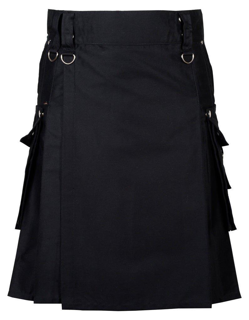 36 Inches Waist Gothic / Punk Rock Kilt For Men