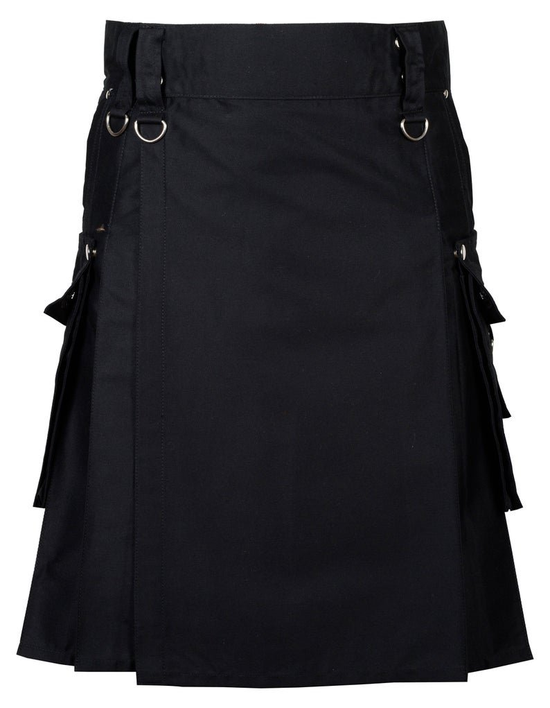 54 Inches Waist Gothic / Punk Rock Kilt For Men