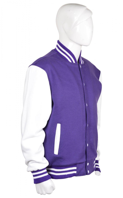 S size Letterman/Baseball/Club/High School/Custom Made Varsity Jacket Full Black
