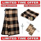 36 size Ancient Rose Scottish 8 Yard Tartan Kilt Package Kilt-Flyplaid-Flashes-Kilt Pin-Brooch