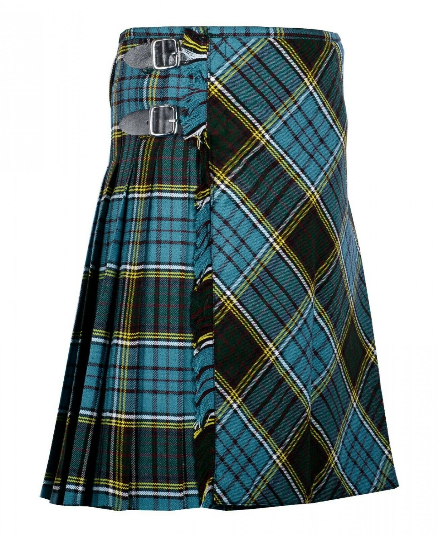 36 inches waist Bias Apron Traditional 5 Yard Scottish Kilt for Men - Anderson Tartan