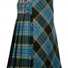 48 inches waist Bias Apron Traditional 5 Yard Scottish Kilt for Men - Anderson Tartan