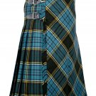 50 inches waist Bias Apron Traditional 5 Yard Scottish Kilt for Men - Anderson Tartan