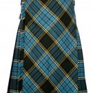 52 inches waist Bias Apron Traditional 5 Yard Scottish Kilt for Men - Anderson Tartan
