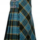 54 inches waist Bias Apron Traditional 5 Yard Scottish Kilt for Men - Anderson Tartan