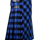 50 inches waist Bias Apron Traditional 5 Yard Scottish Kilt for Men - Buffalo Tartan